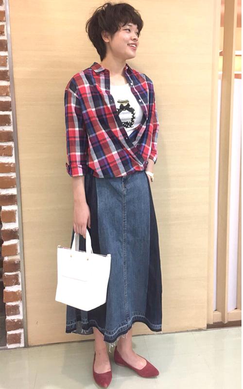 チェックの2WAYシャツコーデ・本厚木店