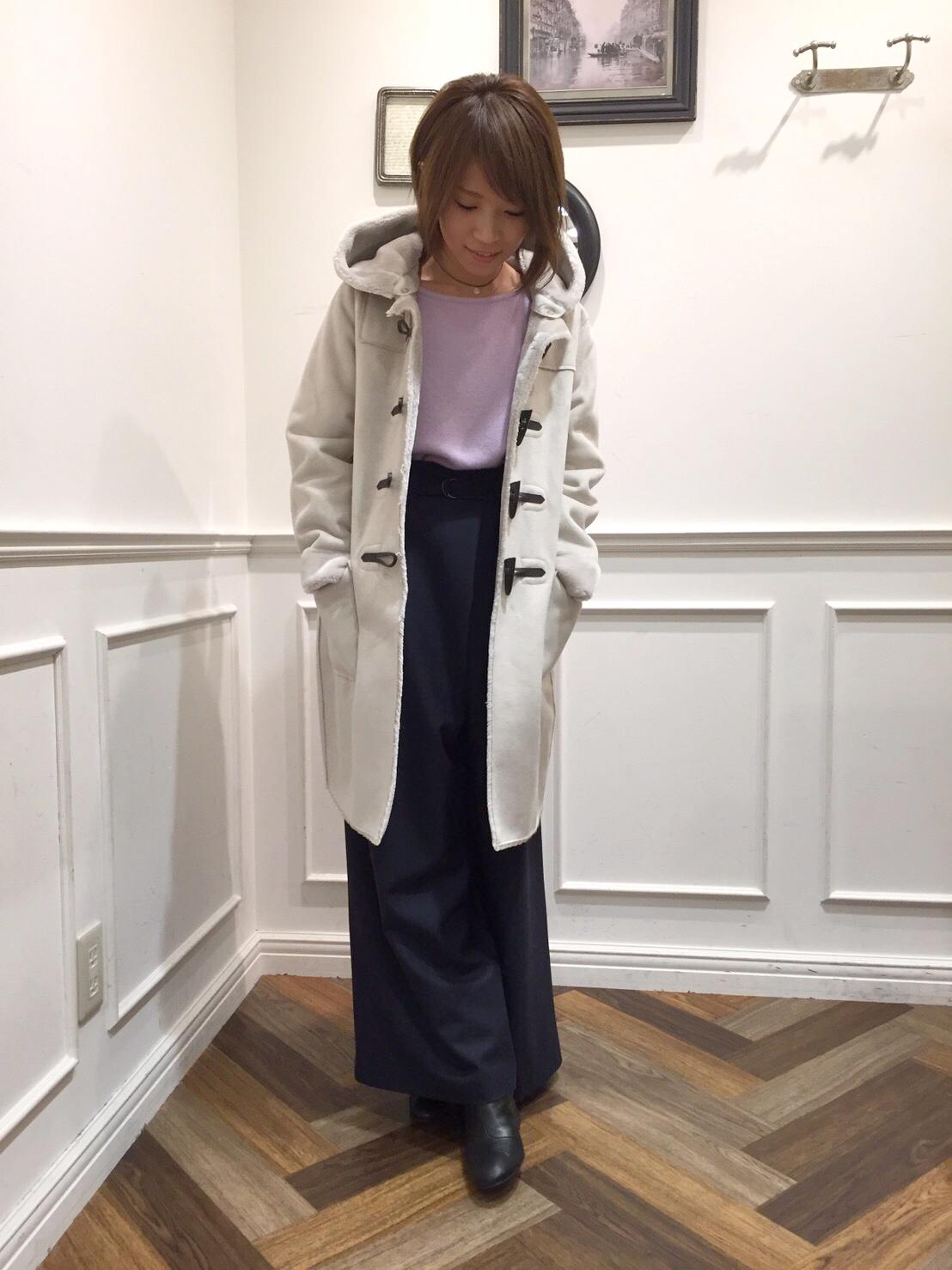 冬にぴったり!フェイクムートンのダッフルコート・津田沼店