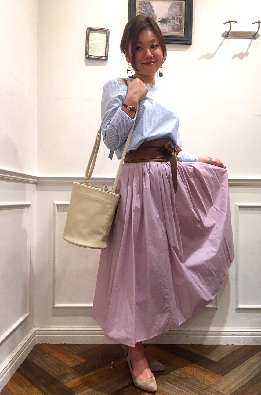 春らしいカラーのスカートご紹介・津田沼