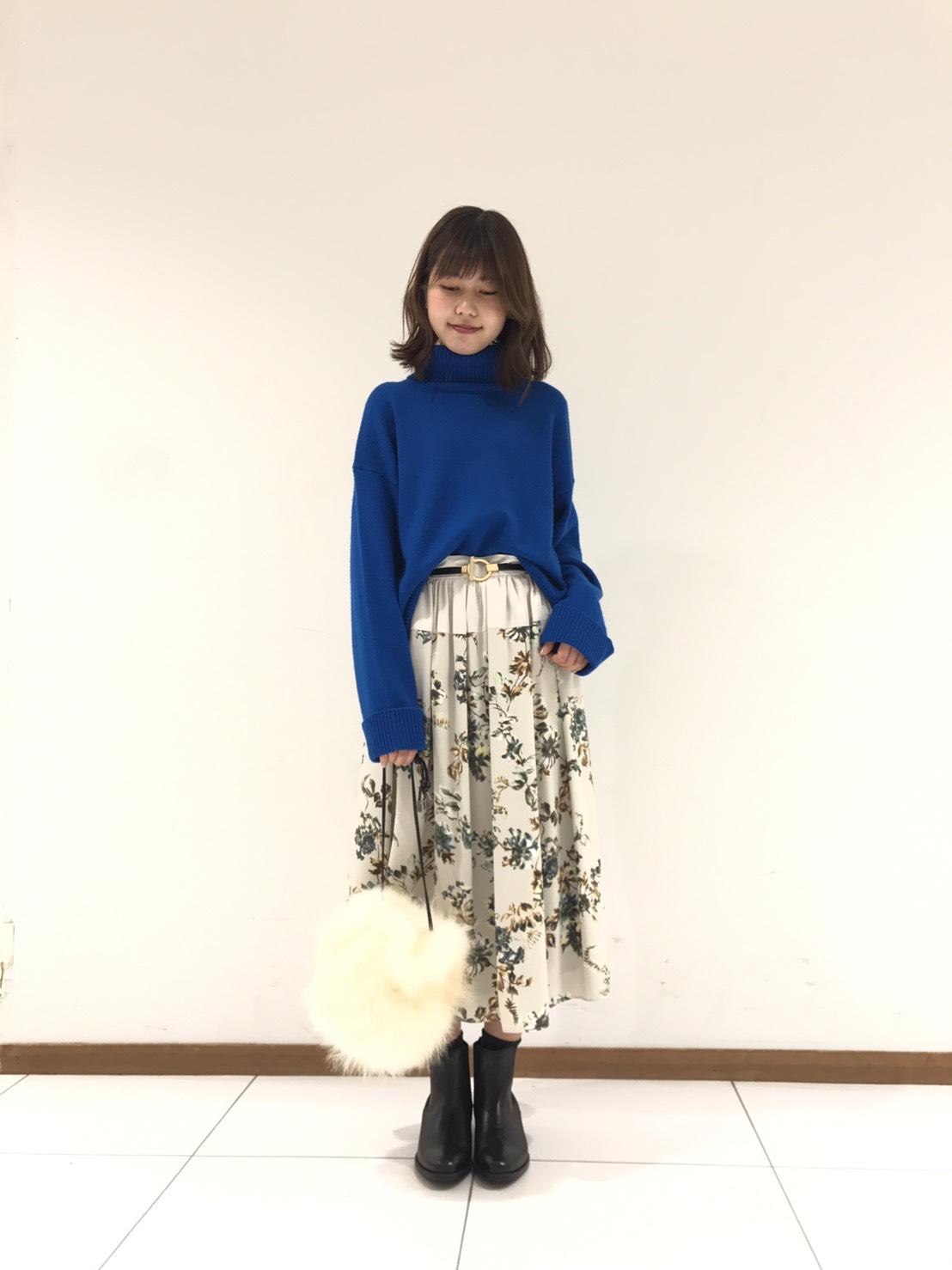 花柄スカートコーデ・津田沼店