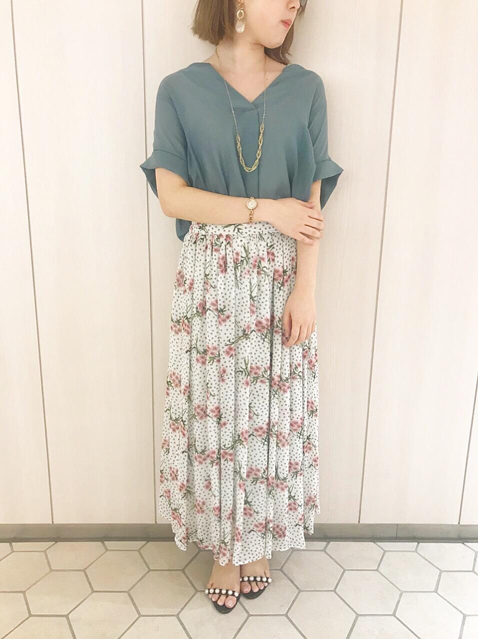 花柄ドットスカート・有楽町店