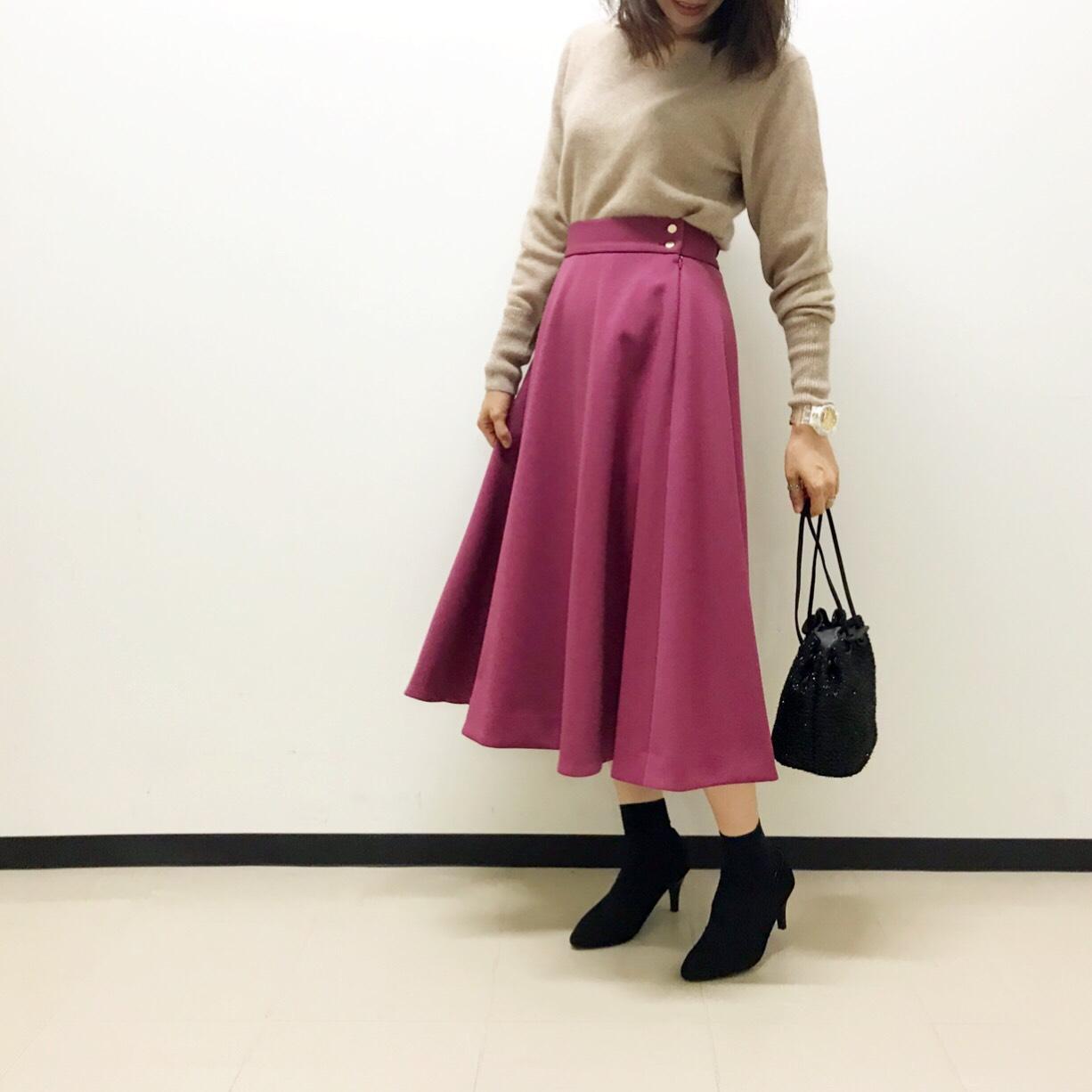 カラーフレアスカート・有楽町店